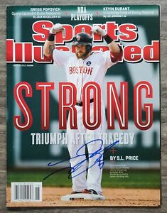 Jonny Gomes Signed Sports Illustrated Magazine 4/29/13 MLB Boston Red Sox RAD