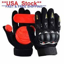 Longboard Skateboard Slide Drift Protect Gloves with Quality Brake Blocks- USA