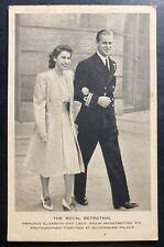 Mint England Royalty RPPC Postcard Royal Betrothal Princess Elizabeth