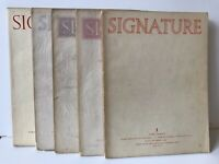 Signature 5 Issues 1946 Typography