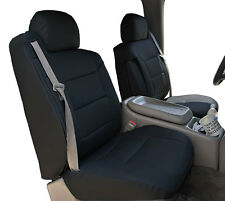 CHEVY SILVERADO 2000-2002 BLACK S.LEATHER CUSTOM MADE FRONT SEAT & 2ARM COVERS