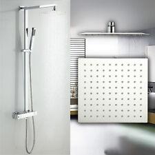 Design Duscharmatur mit SEDAL Thermostat Regendusche 2mm flach Duschsäule