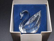 Swarovski Scs Crystal Swan Figurine In Original Box