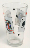 Poker Cards Pint Drinking Glass Playing Cards Cup 16 oz