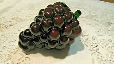 Murano Deep Purple Glass Concord Wine Grapes Italy