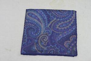 David Donahue Men's Purple Paisley Pocket Square