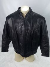 Genuine Leather Motorcycle Harley Bomber Jacket Men Size Large Distressed