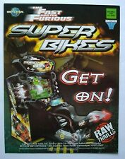 The Fast And The Furious Super Bikes Arcade Flyer Game Artwork Game Sheet 2006