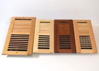 2x14 Decor-Grates-Floor-Register-Plastic-Mahogany Tan Design-Air-Vent-4x10,4x12