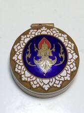 Siam enamel brass pill box
