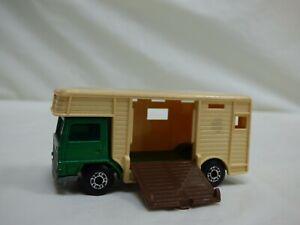 Vintage 1977 Lesney Matchbox Superfast N 40 AEC Horse Box Green Toy Truck Car