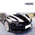 For 17-20 Tesla Model 3 Vspec Carbon Fiber Front Lip Air Dam 1pc -AERO-