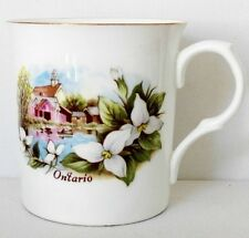 "FINE COLLECTIBLE CROWN TRENT STAFFORDSHIRE ENGLAND FINE BONE CHINA ""ONTARIO"" MUG"