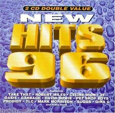 2 CD double value NEW HITS 96....ROBERT MILES, CELINE DION,DAVID BOWIE,TAKE THAT