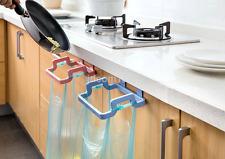 Convinient Plastic Door Garbage Trash Bag Can Rack Holder Kitchen Tool US