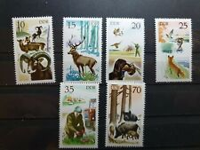 German DDR 1977 Hunting 6 stamp set MNH E1985