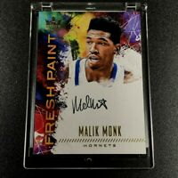 MALIK MONK 2017 PANINI COURT KINGS #FP3-MAN FRESH PAINT AUTO ROOKIE RC NBA