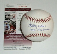 BREWERS Larry Hisle signed baseball w/ 1978-1982 Brewers JSA COA AUTO Autograph