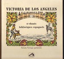 """VICTORIA DE LOS ANGELES """"CHANTS FOLKORIQUES ESPAGNOLS"""" 50'S LP"""