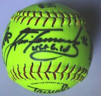 AUTOGRAPHED Team WOMEN'S SOFTBALL Lisa Fernandez  Olympic Gold +9 Signed Auto