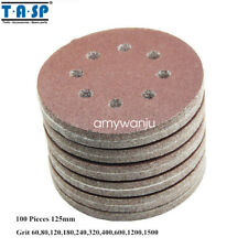 100PC 5-Inch 125mm  8 Hole Sand Disc Abrasive Sanding Paper 60 to 600 Grits