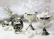 JenlyFavors Plastic Chalice Cup Silver (12 Pieces)