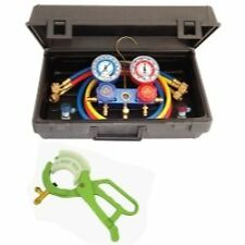 Mastercool 89661-PRO R134 Manifold Set hoses and manual couplers