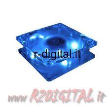 VENTOLA 120 mm 120x120x25 LED BLU TACHIMETRICA SLEEVE BEARING COMPUTER PC SILENT