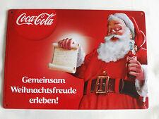 COCA COLA Weihnachtsmann Blechschild ca 29,5 x 21cm Neu  siehe auch Foto