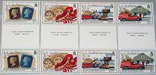 ASCENSION 1990 525-28 487-90 gutter 150 Jahre Briefmarke Stamp on Stamp Car MNH