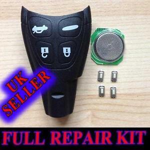 FOR SAAB 93 95 9-3 9-5 TID AERO REMOTE KEY FOB CASE FULL REPAIR KIT
