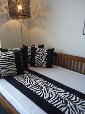 Zebra Print Runner 45x200cm Soft Brushed Poly Suede NATALIE MARIJA DESIGN