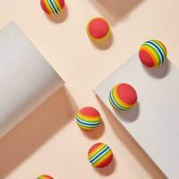 Rainbow Ball Training Practice Chew Toys Dog Cat Fetch Balls Catch Y6X7