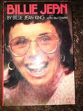 BILLIE JEAN BY BILLIE JEAN KING HARDBACK SIGNED 1974 FIRST EDITION JSA COA