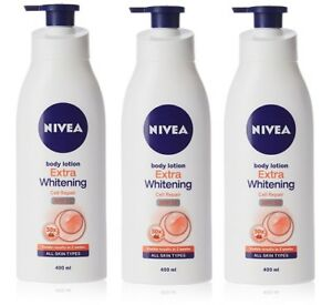 Nivea Extra Whitening Cell Repair SPF 15 Body Lotion, 400 ml x 3 pack  Free ship