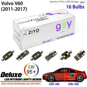 LED Light Bulbs Interior Light Kit White Dome Light For 2010-2017 Volvo V60