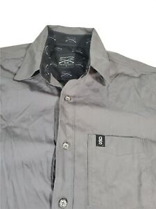 Mens Grunt Style Button Down S/S Shirt Size Small
