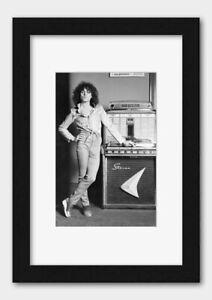 T-Rex - Marc Bolan with a Jukebox 1977 Print Black Frame White A3 (29.7x42cm)
