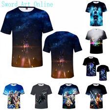 Game Sword Art Online 3D Tee Shirt Unisex Adult Anime Short Sleeve T-Shirt