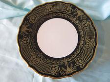 "Syracuse China plate 10 1/2"" gorgeous! black  & gold scalloped edge dinner"