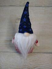 "New Americana 11"" Gnome Uncle Sam Shelf Sitter Doll Decor Patriotic Hat Stars"