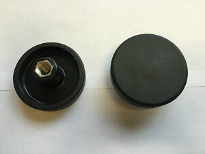 Plastic Handwheel - 66mm Round Handwheel M12 Female Stainless Steel Insert