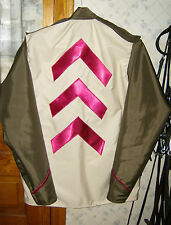 HORSE RACING JOCKEY SILKS-THIS DESIGN-YOUR COLOR CHOICE MOST COLORS AVAILABLE !
