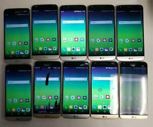 AS IS VARIOUS ISSUE LOT OF 10 LG G5- H830 -32GB- Gold/Silver T-Mobile Unlock 114