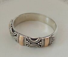 Solid Silver, 925 & 18K Gold Bali Handcrafted Ring 38720