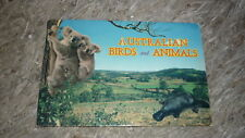AUSTRALIAN OLD POSTCARD VIEW FOLDER. FROM THE 1960s, AUST BRIDS & ANIMALS