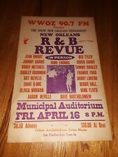 WWOZ New Orleans R&B Revue Municipal Auditorium 14x22 Original Poster 1982