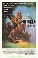 MISTRESS OF THE APES MOVIE POSTER Original Folded  27x41 BORIS VALLEJO Art