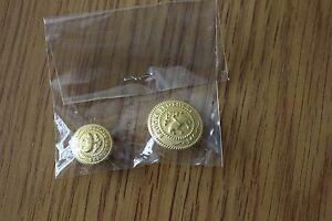 Brooks Brothers Golden Fleece 346 set of 2 Replacement Buttons 1 Closuer 1 Cuff