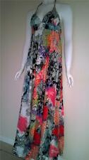 Halter Neck Cotton Casual Women's Maxi Dresses